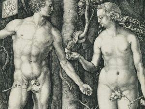 Working Title/Artist: Adam and Eve Department: Drawings & Prints Culture/Period/Location:  HB/TOA Date Code: 08 Working Date: 1504 photography by mma 1997, transparency #1A scanned and retouched by film and media (jn) 1_9_03